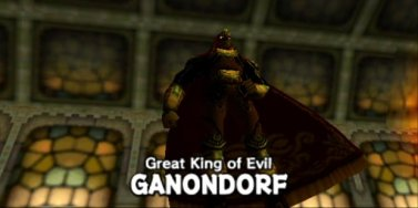 Ganondorf, bearer of the Triforce of Power.