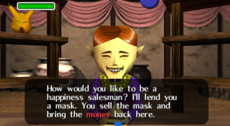 "Happy Mask Salesman in ""Ocarina of Time"""