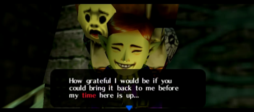 Happy Mask Salesman entreating Link