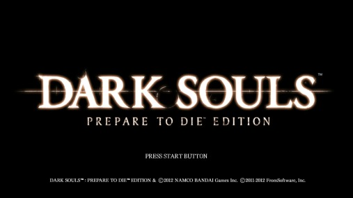 Dark Souls title screen