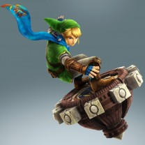 Link on his Spinner